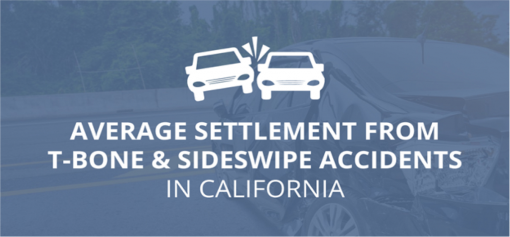 What is the Average Settlement from T-Bone and Sideswipe Accidents in California?